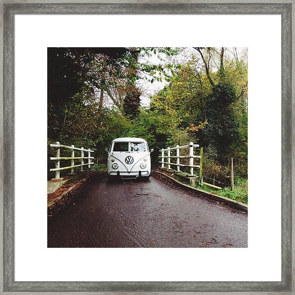 Splitscreen Over Tewin Bridge V Framed Print