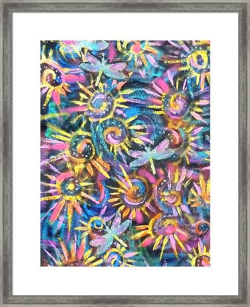 Dancing Dragonflies Framed Print