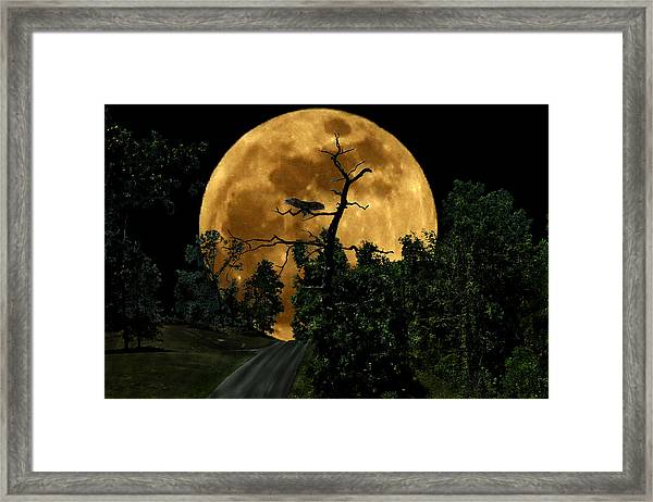 Spooky Road Framed Print