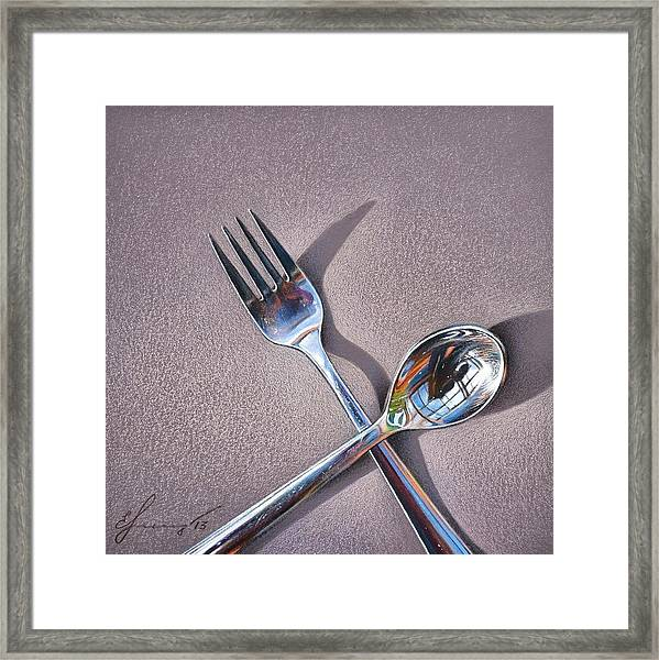 Spoon And Fork 2 Framed Print