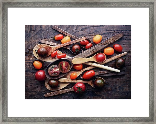 Spoons&tomatoes Framed Print by Aleksandrova Karina