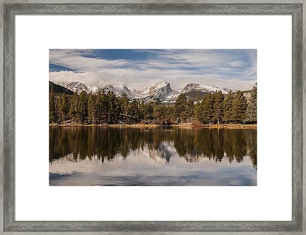 Sprague Lake Reflection In The Morning Framed Print