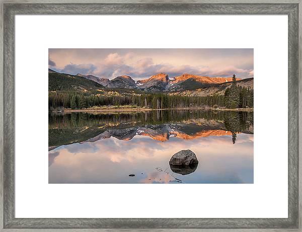Sprague Lake Sunrise 2 Framed Print