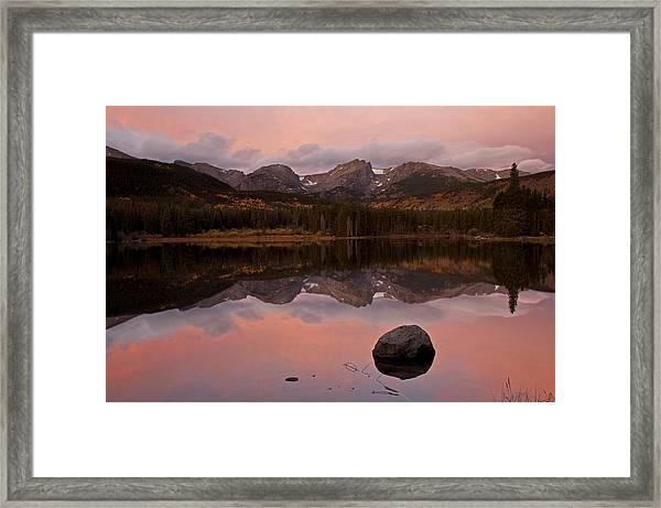Sprague Lake Sunrise Framed Print