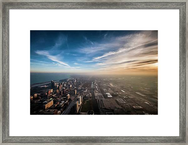 Sprawling City Looking South Framed Print by By Ken Ilio