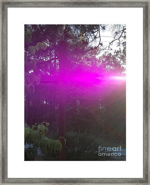 Holy Spirit At Sunrise  Framed Print