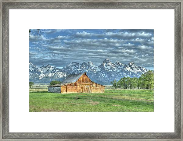 Framed Print featuring the photograph Spring Barn by David Armstrong