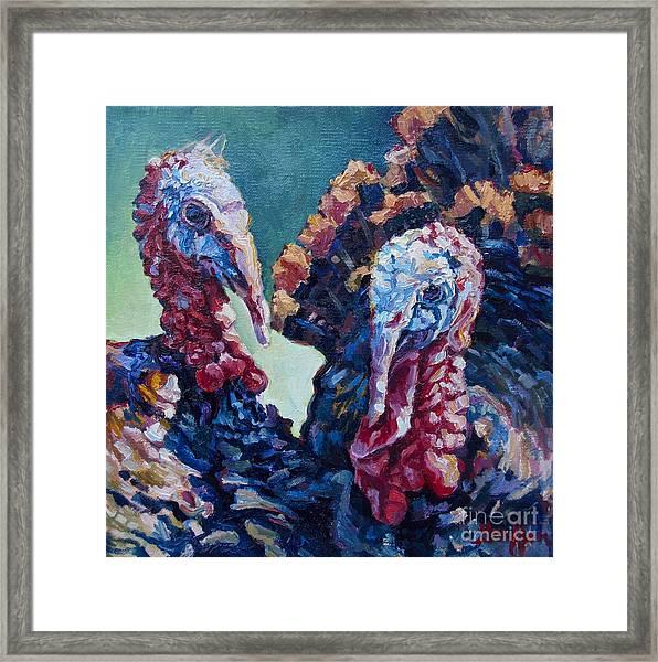 Spring Gobblers Framed Print