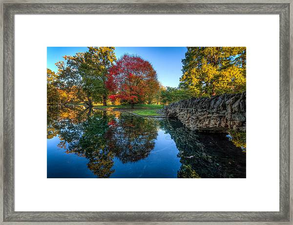Spring Grove In The Fall Framed Print