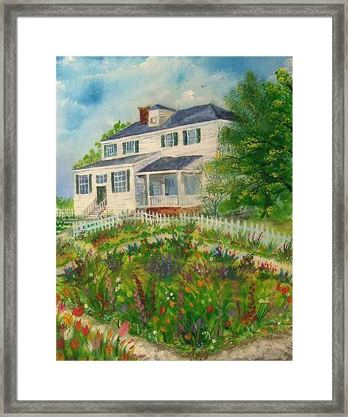Spring In Colonial Williamsburg- Cole House Framed Print