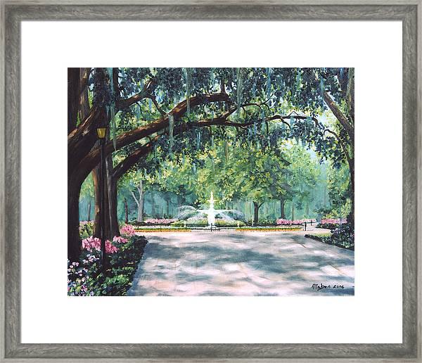 Spring In Forsythe Park Framed Print