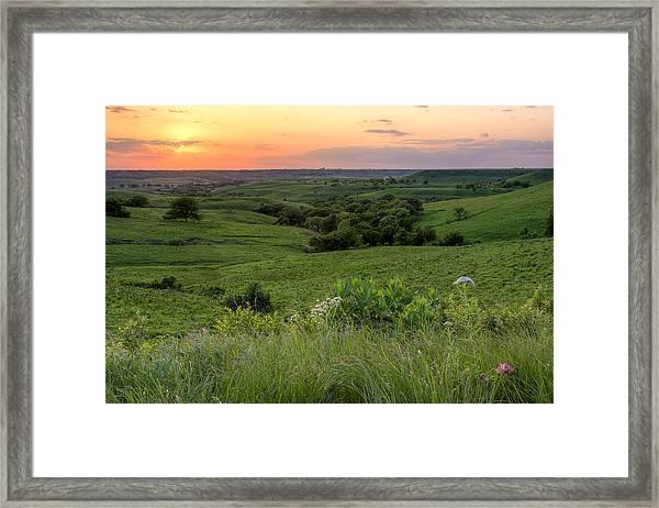 Spring In The Flint Hills Framed Print