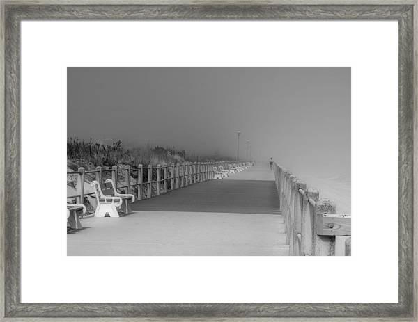 Spring Lake Boardwalk - Jersey Shore Framed Print