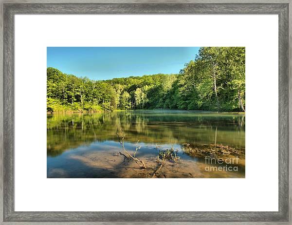 Spring Mill Lake Framed Print