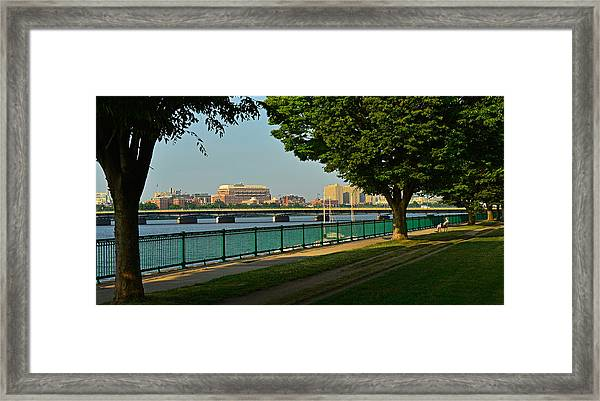 Spring Morning By The Charles River Framed Print