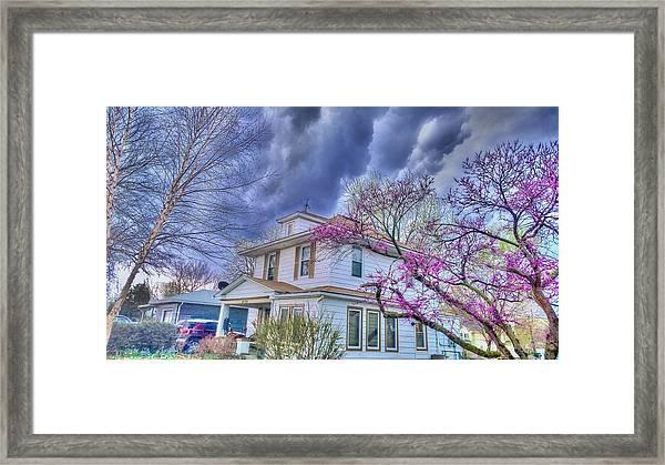Spring Storm Framed Print by Larry Bodinson