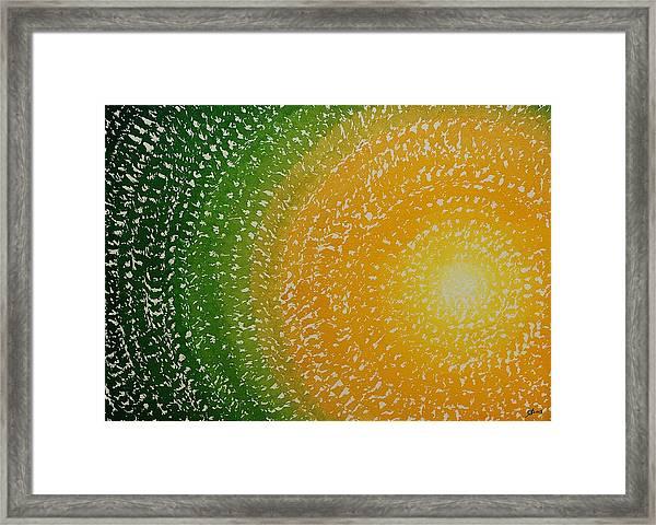 Spring Sun Original Painting Framed Print