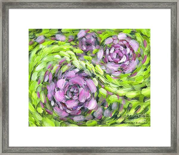 Spring Whirl Framed Print