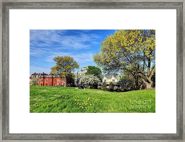 Springtime In Roxbury Framed Print
