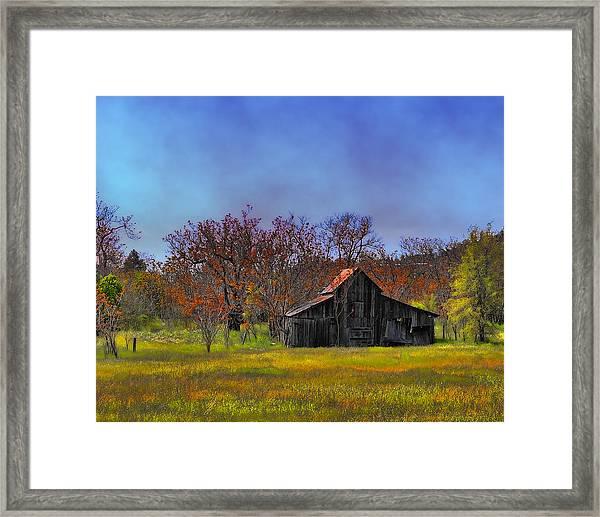 Springtime Sonora Barn Framed Print
