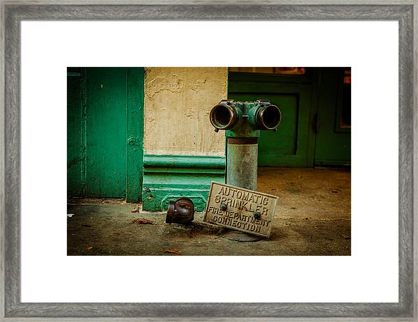 Sprinkler Green Framed Print