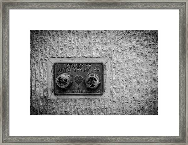 Sprinkler With A Heart Framed Print