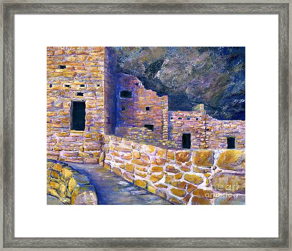 Spruce House At Mesa Verde In Colorado Framed Print
