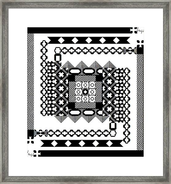 Square Spiral Galaxy Signed Framed Print