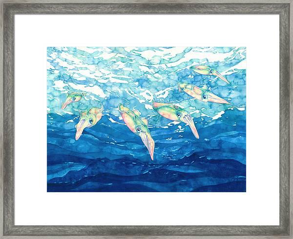 Squid Ballet Framed Print