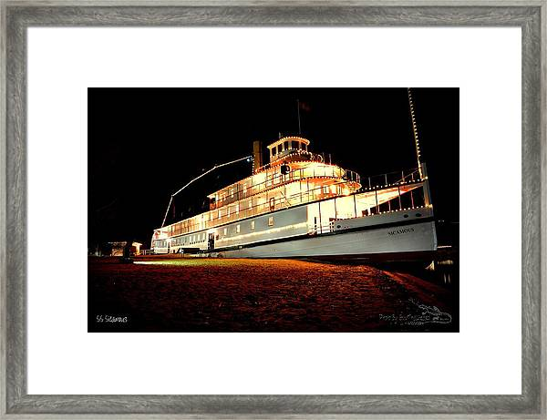 Ss Sicamous Frontview 1/21/2014  Framed Print
