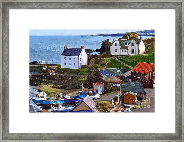 St. Abbs Harbour - Photo Art Framed Print