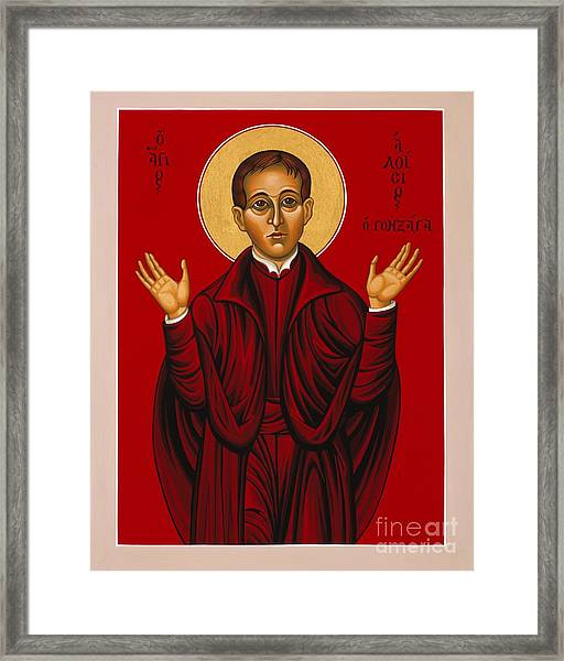St. Aloysius In The Fire Of Prayer 020 Framed Print