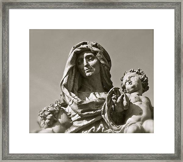 St Anne Detail Framed Print