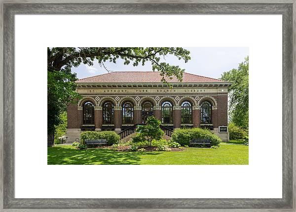 St Anthony Park Library Framed Print