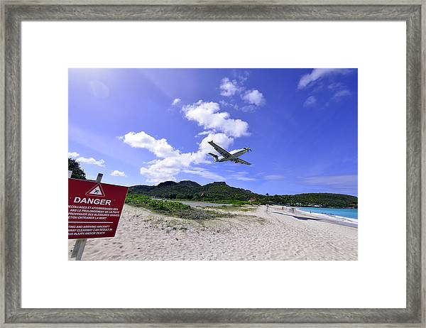 St Barts Takeoff Framed Print