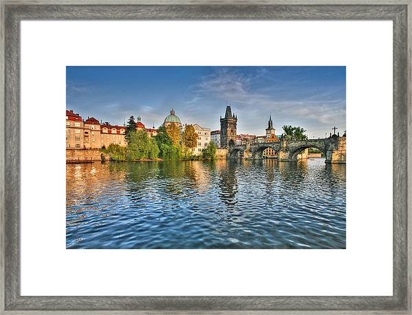 St Charles Bridge Prague Framed Print