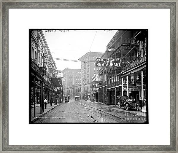 St Charles Street New Orleans Framed Print