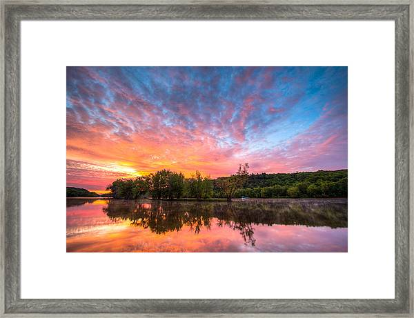St. Croix River At Dawn Framed Print