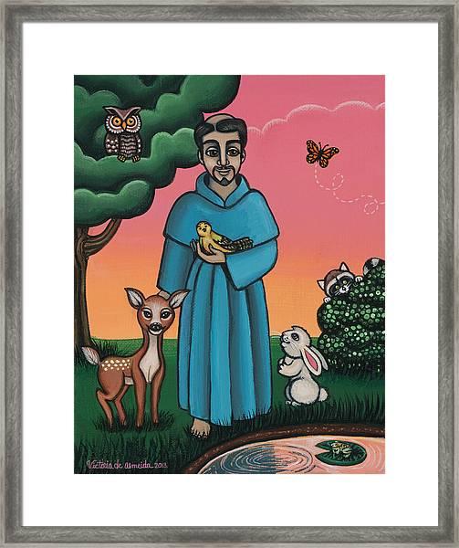 St. Francis Animal Saint Framed Print
