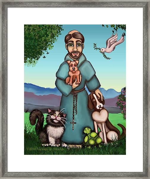 St. Francis Libertys Blessing Framed Print