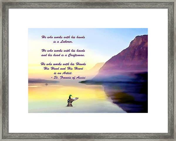 St Francis Of Assisi Quotation Framed Print