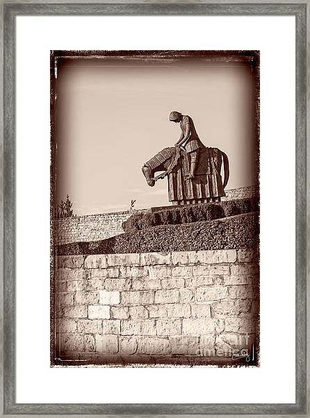St Francis Returns From Crusades Framed Print