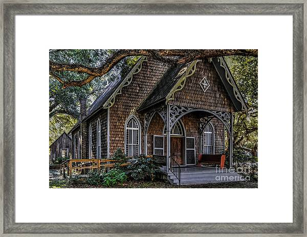 St. James Episcopal Church In Mccellanville Sc Framed Print