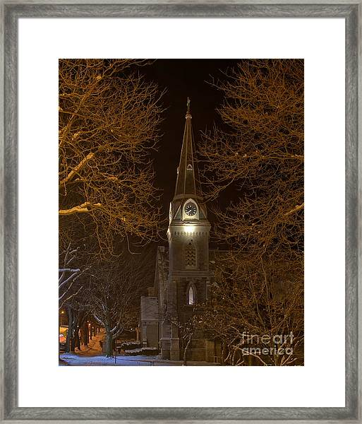 St. James Episcopal Church Steeple Framed Print
