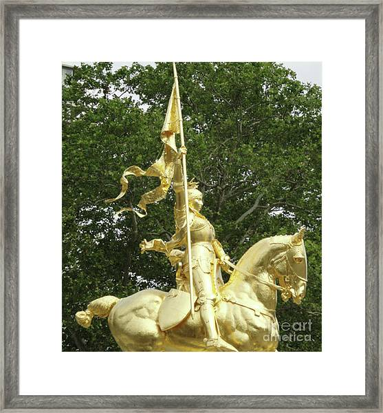 St. Joan Of Arc Framed Print