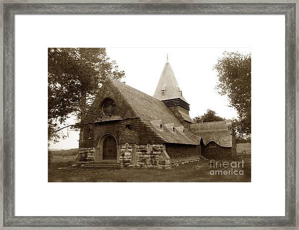 St. Johns Chapel Del Monte Monterey California 1895 Framed Print