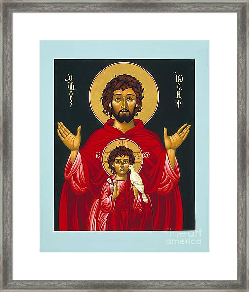 St. Joseph Shadow Of The Father 039 Framed Print