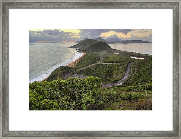 St Kitts Overlook Framed Print