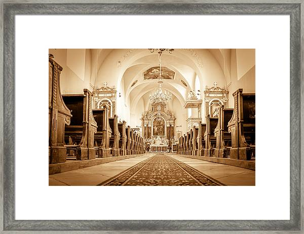 St Laszlo Roman Catholic Church Oradea Romania Framed Print