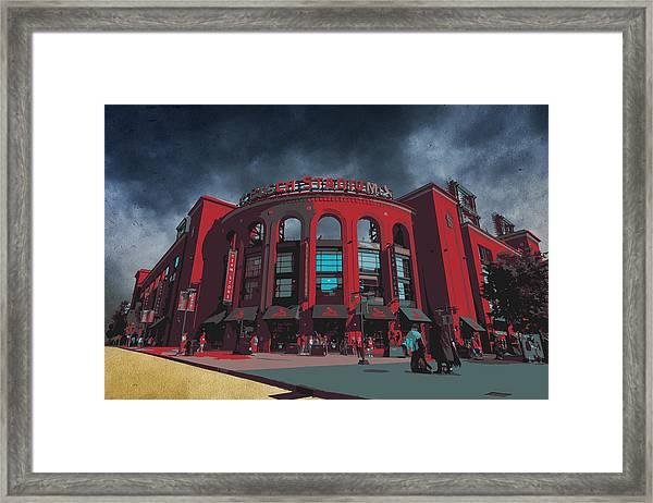 St. Louis Busch Stadium Cardinals 9162 Art Framed Print